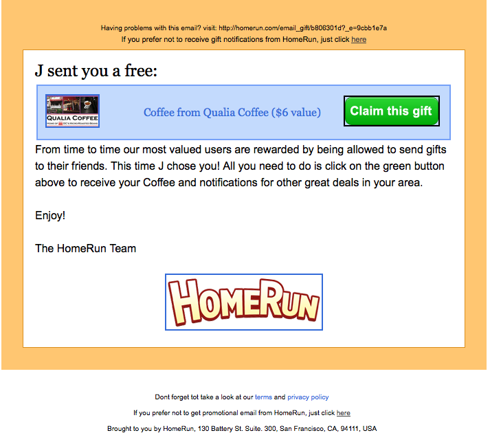 Consumer Alert: Qualia Free Coffee E-mail is a Scam