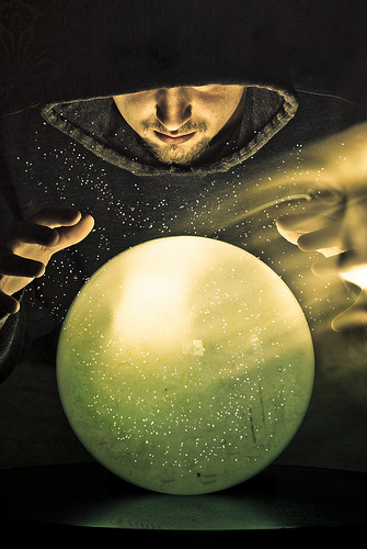 wizard with crystal ball
