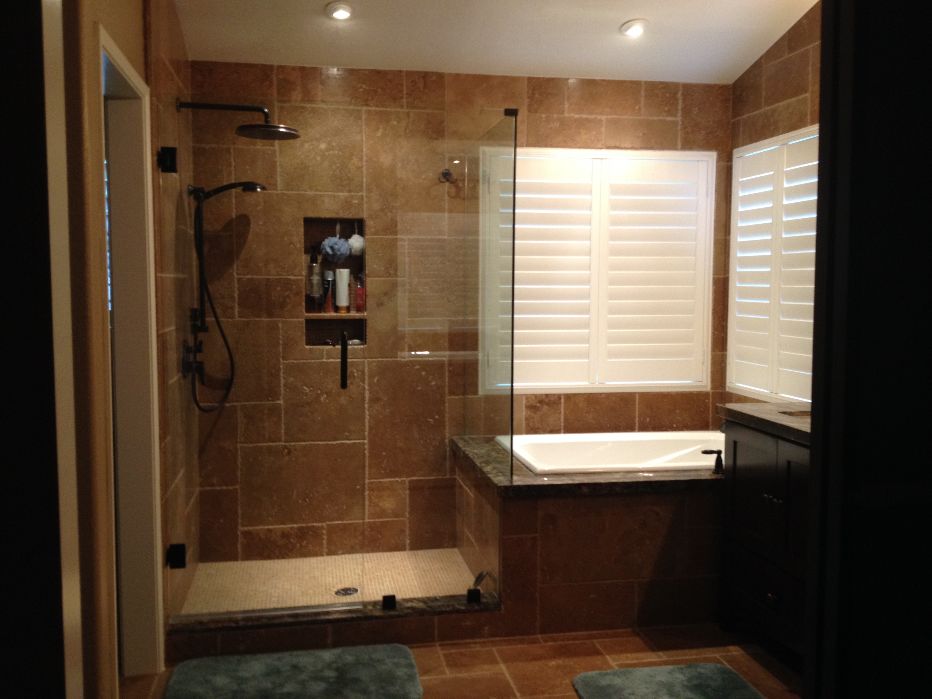Pictures of our 23 922 bathroom remodel and some lessons for Bathroom remodel 70 square feet