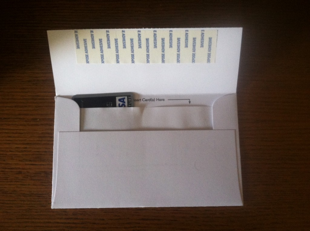 credit card disposal envelope 2