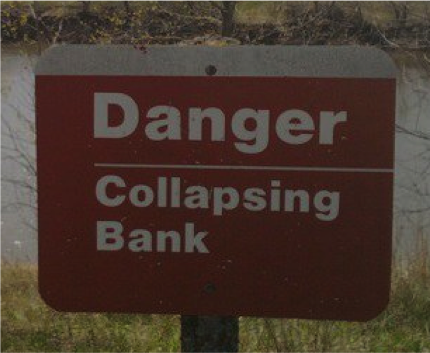 collapsing bank
