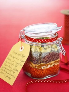 xmas soup mix in jar
