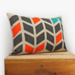 pillow stenciled