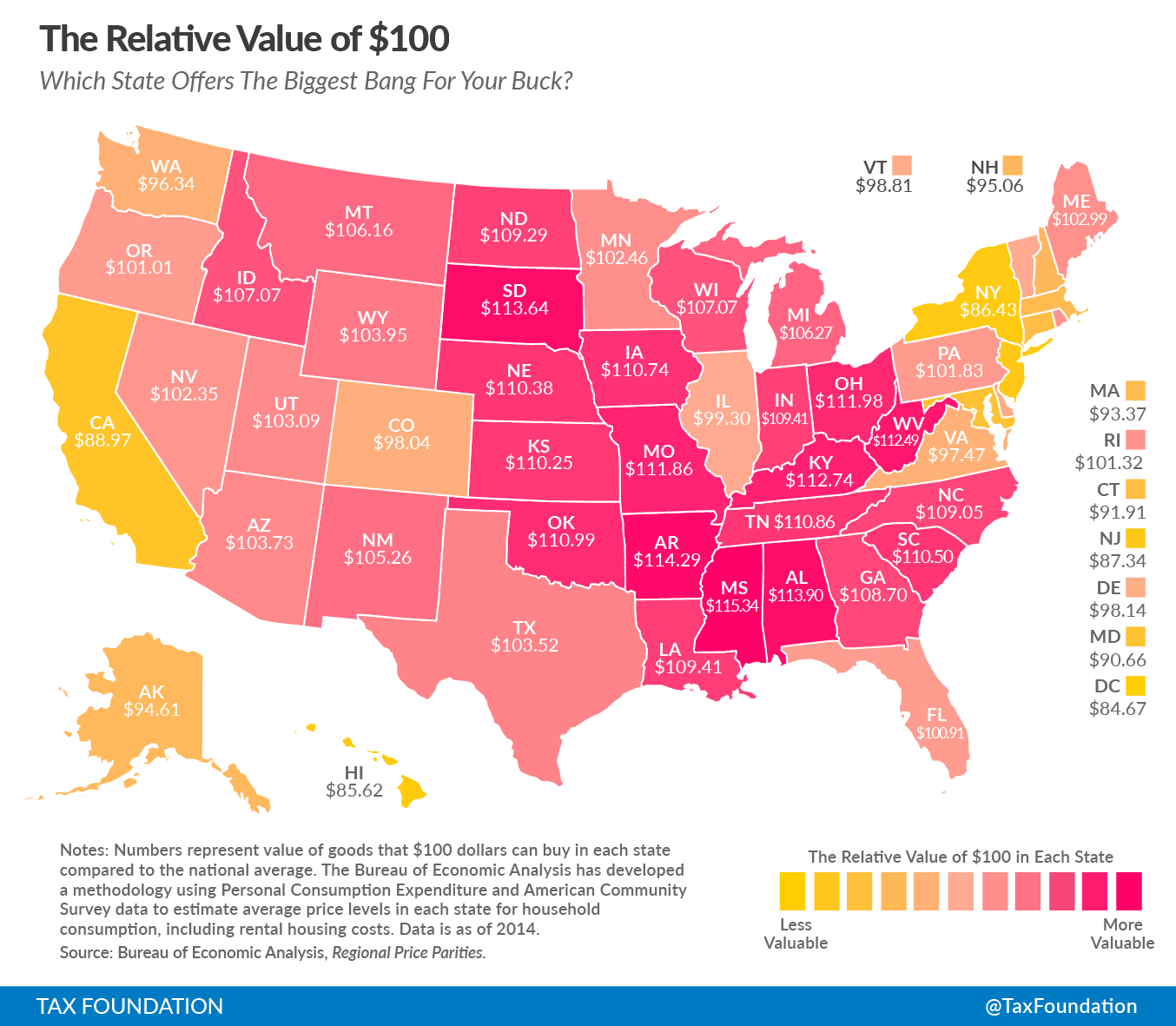 Which US States Offer The Biggest Bang For Your Buck Len Penzo - Us states map