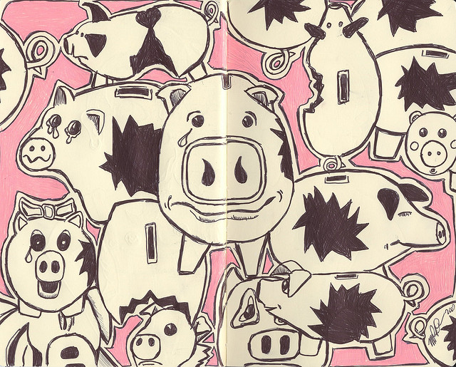 pigs crying