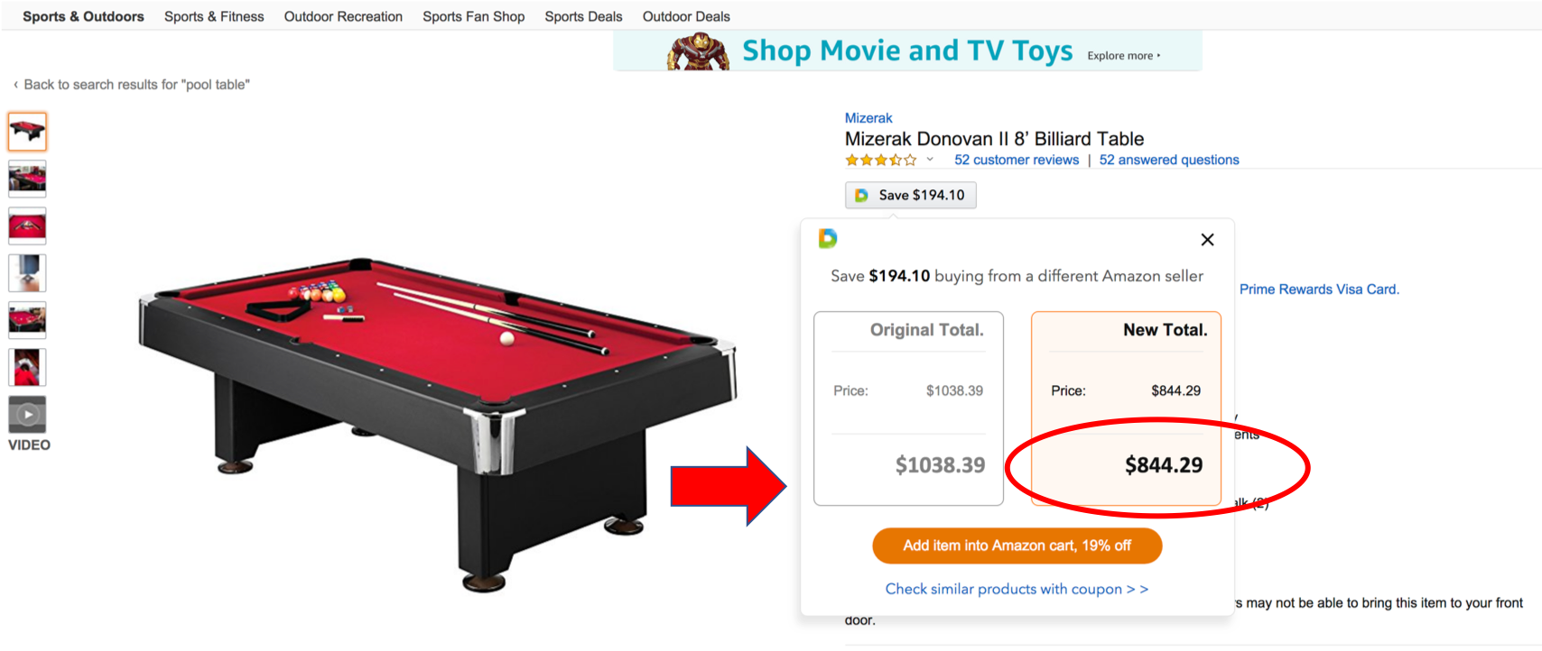 Save Extra Money At Amazon By Using This Simple Chrome Extension - Pool table price amazon